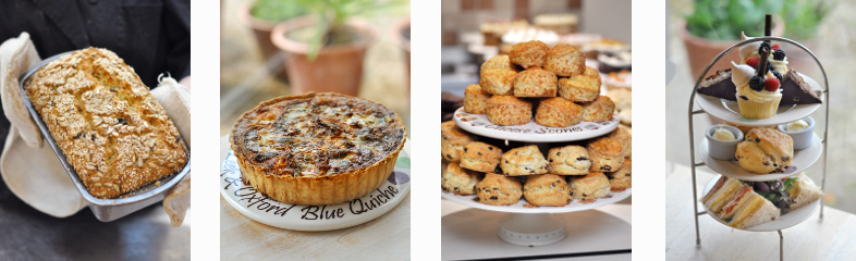 A selection of homemade scones, quiches, breads, sandwiches and afternoon teas from our Country Cafe