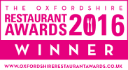 Oxfordshire Restaurant Awards Winner Aston Pottery 2016