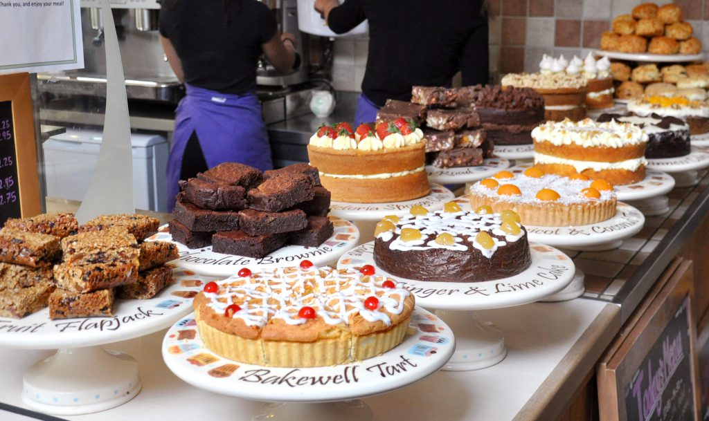A selection of cakes in our Country Cafe