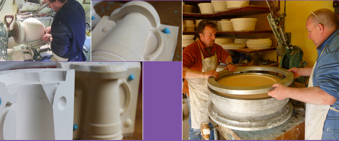 developing and making moulds at Aston Pottery