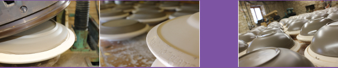 rollering to create plates and bowls