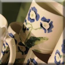 blue auricula design