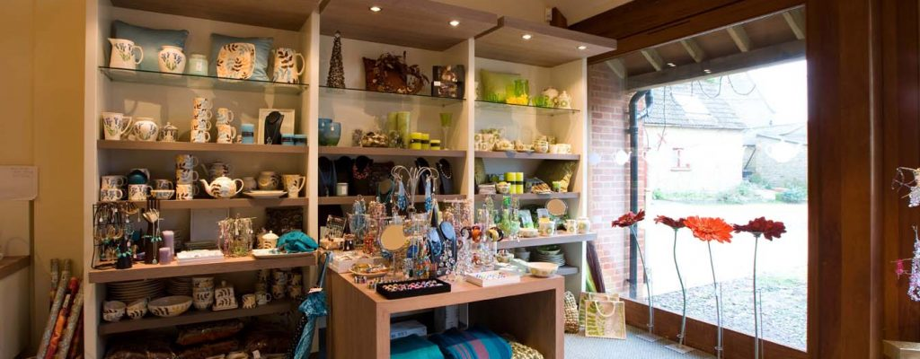 Aston Pottery Gift Shop Products Displays 2